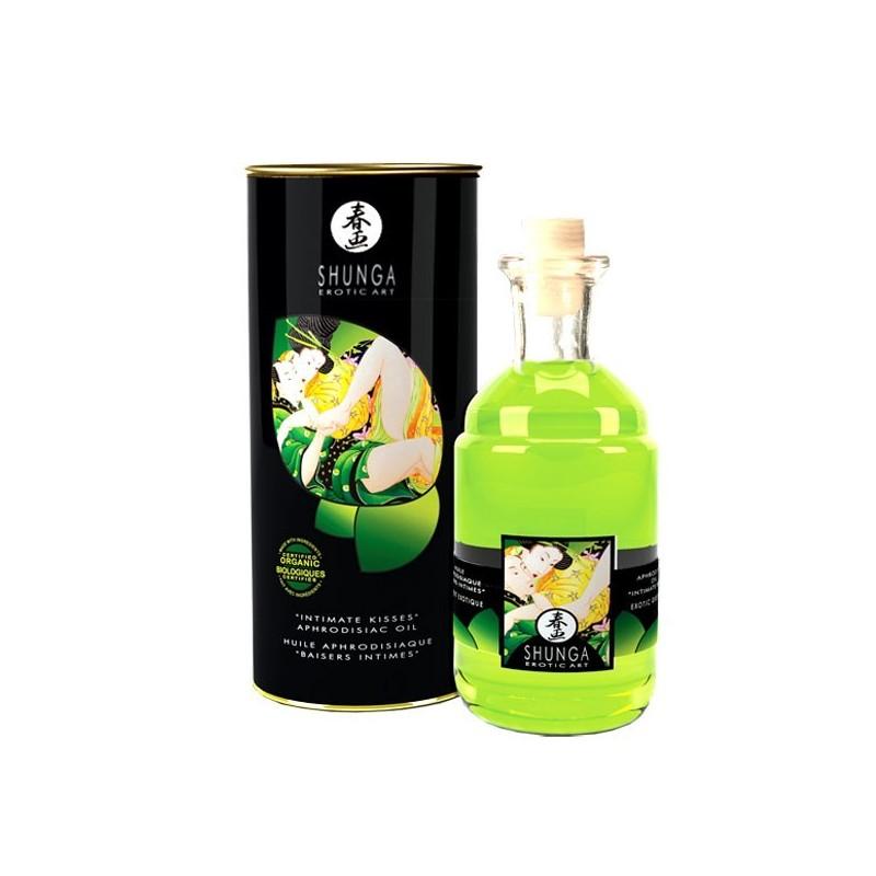 Huiles aphrodisiaques comestibles parfumées Thé Vert