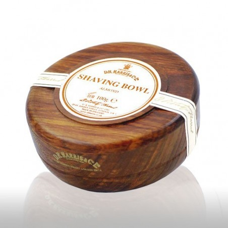 Savon de rasage parfumé amande bol bois effet Mahogany