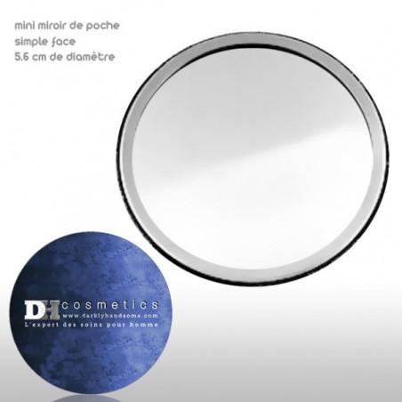 Mini-Miroir de poche pour homme - 1 face miroir 1 face décoré
