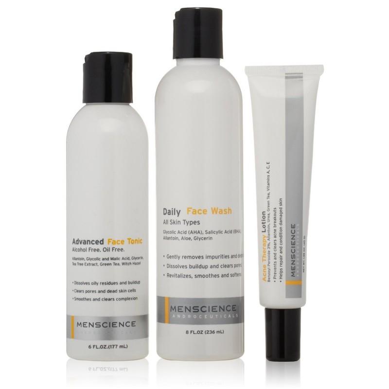 Kit complet traitement de l'acné - Imperfections peau homme