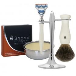 Set de rasage ê-Shave stand T - Savon bol rasage