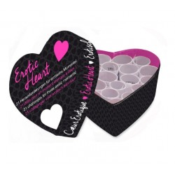 Mini Coeur spécial St-Valentin Erotic Heart 21 défis érotiques
