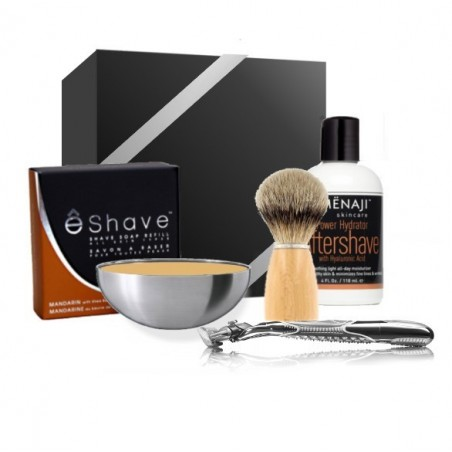 Kit du Barbier - Coffret complet de Rasage traditionnel