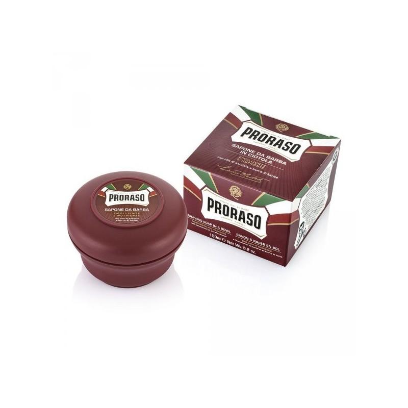 Savon à raser Karité Bois de santal - Bol rouge Proraso