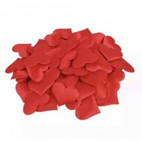 100 Pétales de Cœur rouge en tissu satiné Romantique